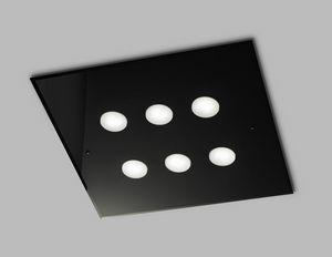DADO L 60 x 60, Plafonnier carré en verre