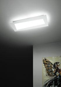Debra Spigolo Rettangolo, Plafonnier avec modules LED intégrés