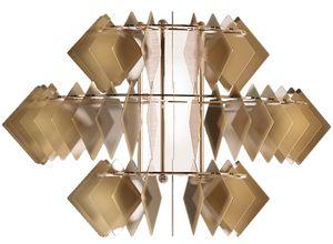 Diamante new applique, Applique murale contemporaine en acier