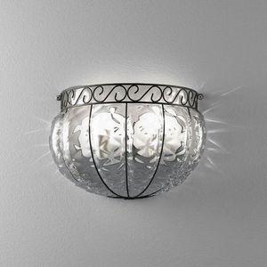 Harem Ma160-030, Applique de style classique, en métal et verre