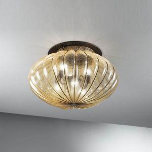 Harem Mc132-045, Plafonnier classique en verre ambre antique