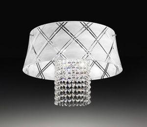 MEDUSA Ø 40, Plafonnier avec pendentifs en cristal taillé
