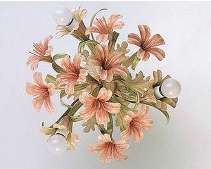 PL.4365/3, Plafonnier en verre avec finitions florales