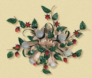 PL.6140/6, Plafonnier avec des fraises et des feuilles décoratives