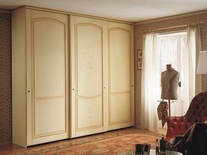 Appunti di Viaggio 5, Armoire avec portes coulissantes, design classique, finition tempera decapé