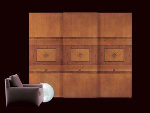 AR09 Floreale armoire, Armoire classique à portes coulissantes, éclairage intérieur
