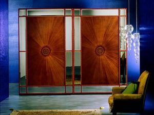 AR10 Arte armoire, Armoire classique avec verre taillé, portes coulissantes