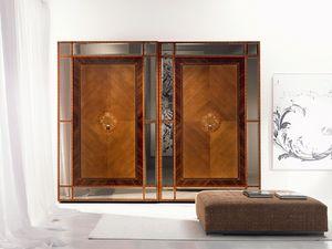 AR16 Pois armoire, Armoire à portes coulissantes, des incrustations dans divers matériaux