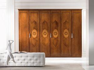 AR17 I Rosoni armoire, Armoire à porte battante, incrustations en bois divers