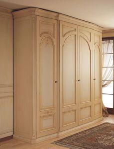 Art. 1130 Luxor, Armoire à portes latérales incurvées, pour chambre classique