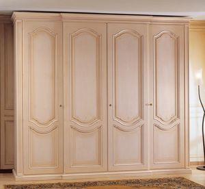Art. 1170 Royal, Armoire en bois, décoré, avec 4 portes, pour chambre