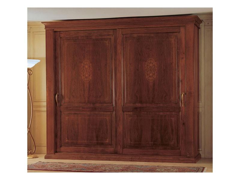 Art. 2004/279 '800 Francese Luigi Filippo, Armoire en bois, un morceau classique de meubles pour la chambre à coucher