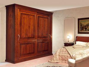Art. 2004/952/2 2 doors, Armoires de luxe, portes coulissantes avec incrustation, pour chambres classiques