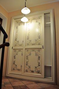 Art. 2304 Karina, Armoire à portes coulissantes, de style classique contemporain