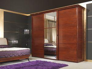 Art 509 Wardrobe, Luxe armoire classique, en bois de rose, portes coulissantes