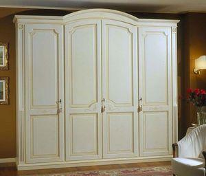 Elios armoire, Armoire en bois avec étagères et tiroirs