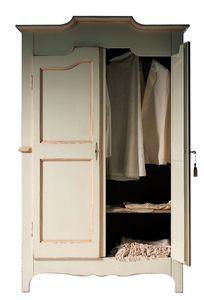 Geneviève BR.0751, Armoire laquée avec 2 portes, avec une étagère interne, adapté pour les chambres en style classique