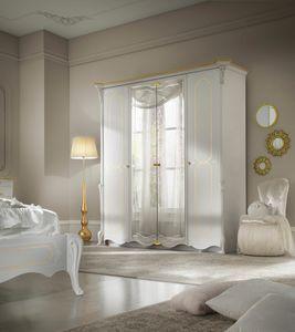 Giulietta Art. 3315 - 3415, �l�gante armoire laqu�e blanche