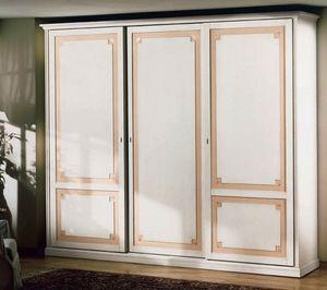 Giunone armoire, Luxe armoire en bois décoré de feuilles d'or, pour chambre