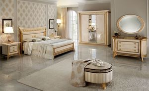 Melodia petite armoire, Armoire 3 portes, style classique, les finitions de feuilles d'or
