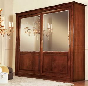 Olympia Armoire 2 portes, Armoire avec portes en miroir, dos de diamant