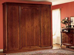 Opera armoire porte en bois, Armoire avec 4 portes, en bois lambrissé