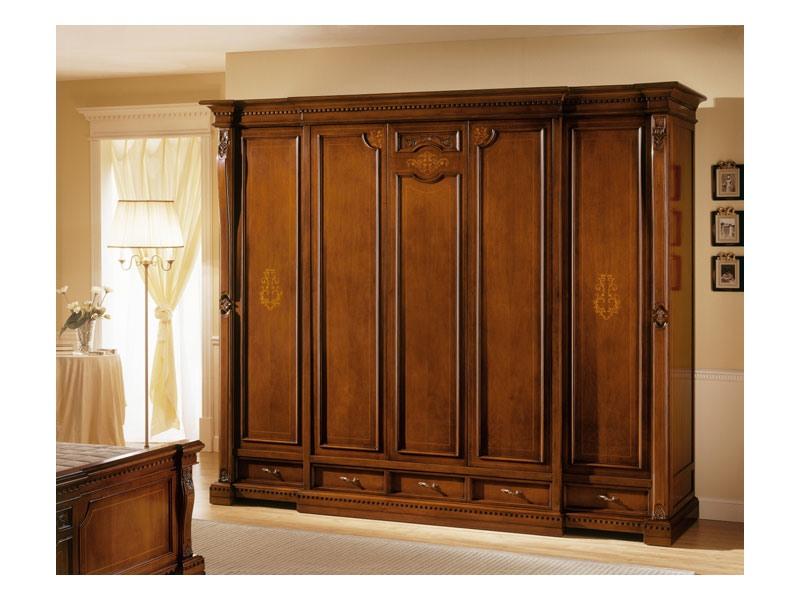 REGINA NOCE / Wardrobe 5 doors, Garde-robe de luxe avec 5 portes, pour les villas classiques