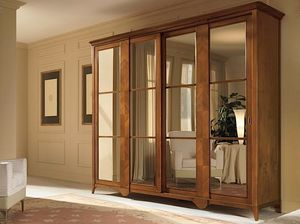 Salieri garde-robe, Armoire avec portes coulissantes en miroir
