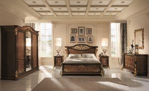 Sinfonia petite armoire, Armoire avec 3 portes, en bouleau et le noyer, une attention particulière dans tout le décor