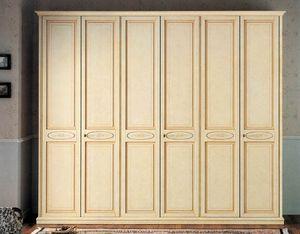 Vega armoire, Armoire laquée classique de luxe avec 6 portes