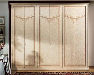Vesta armoire, Armoire de luxe en bois laqué avec 6 portes