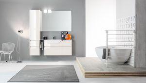 Kami comp.09, Armoire de salle de bain modulable avec finitions polies