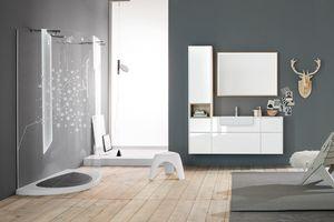 Kami comp.13, Armoire de salle de bain modulable avec compartiment de rangement
