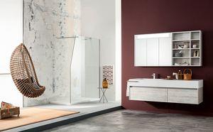 Kami comp.14, Meuble de salle de bain avec grands tiroirs et miroir