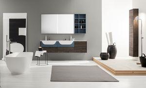 Kami comp.15, Armoire de salle de bain modulaire avec double vasque