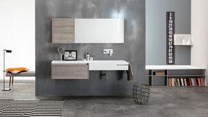 Kami comp.16, Composition de salle de bain modulaire, style moderne