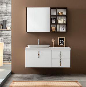 Kami comp.17, Meuble pour salle de bain avec miroir de rangement