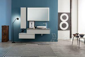 Kami comp.18, Composition de salle de bain avec tiroirs