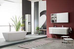 Kami comp.21, Armoire de salle de bain modulable dans un style moderne