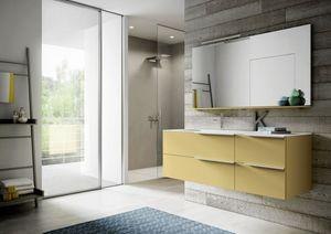 My time comp.02, Armoire de salle de bain avec étagère et grands tiroirs