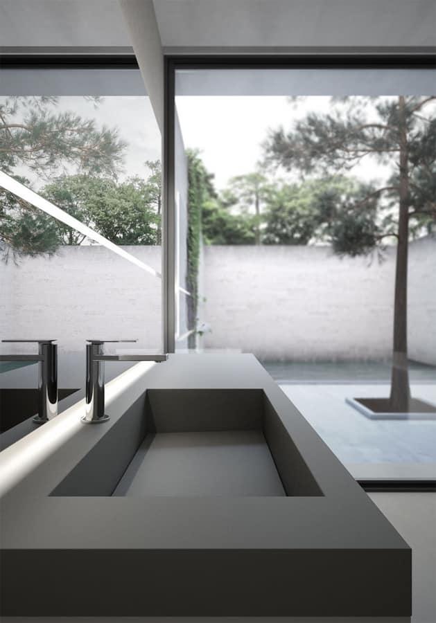 Sense comp.06, Meuble de salle de bain modulaire, avec grand miroir