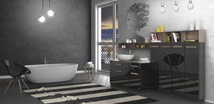 Torana TR 031, Armoire de toilette noire brillante