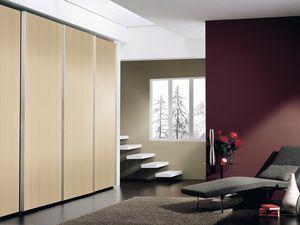 Armoire Coo 01, Armoire avec portes coulissantes amortis, pour les hôtels