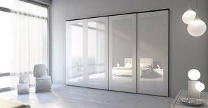 Armoire 20, Garde-robe moderne pour les chambres, wardrobewith portes coulissantes adaptées à la zone de couchage