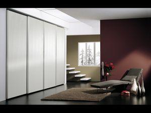 Armoire Coo 05, Armoire avec 4 portes, dans un style minimaliste, des hôtels