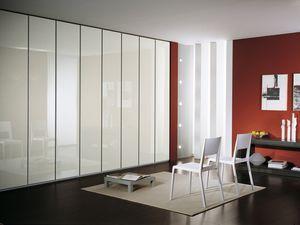 Armoire Idra Poli Verre 23, Armoire modulaire, recouvert de verre, le style linéaire