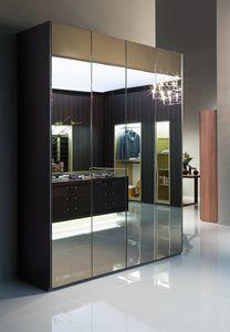 ATLANTE SEVENTY comp.03, Armoire avec portes en miroir, en différentes tailles