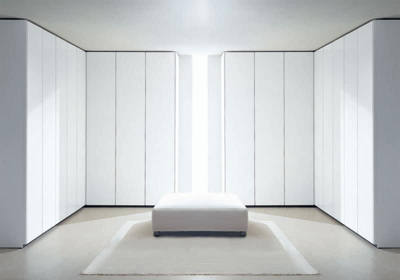 ATLANTE SHEER comp.01, Armoires modulaires dans différentes dimensions et finitions