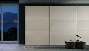 CINQUE, Armoire avec portes en verre peint