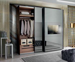 Domino armoire, Armoire à portes coulissantes